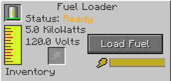 Fuel Loader interface