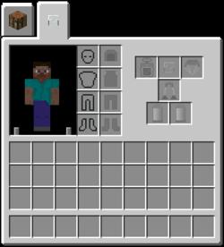 minecraft player inventory slots